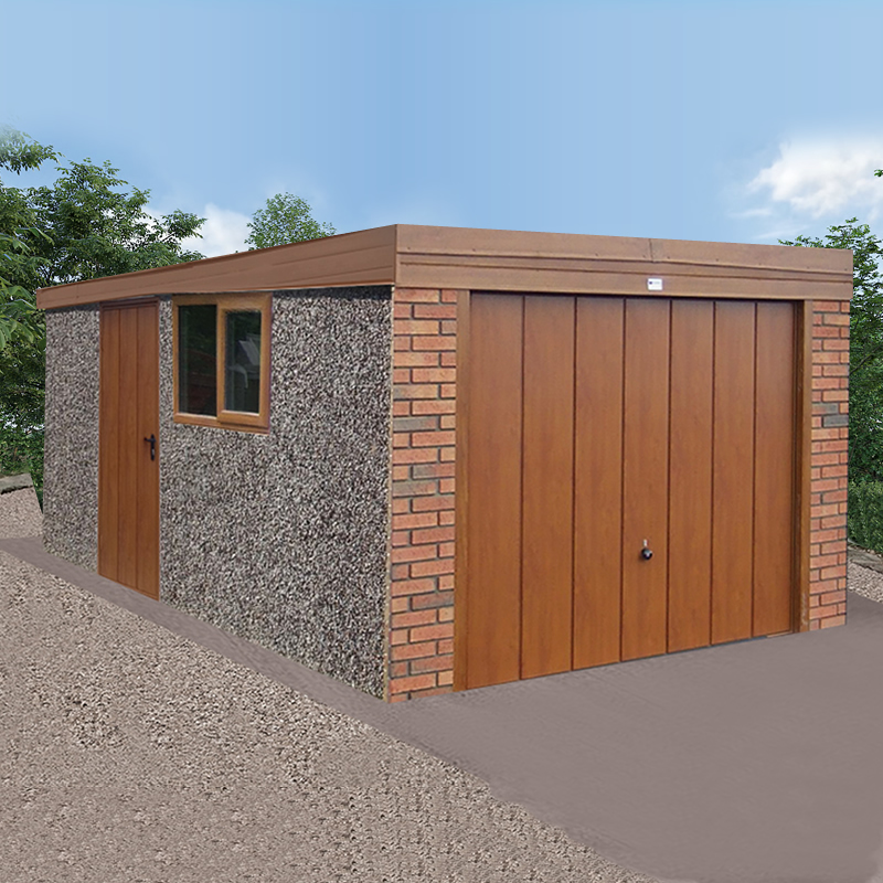 Woodthrope Flat Roof Garage - Discount Concrete Garages